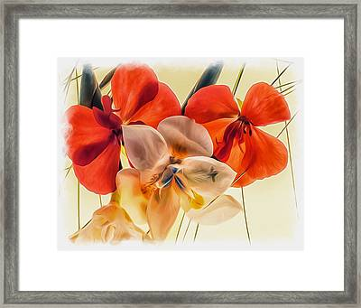 Gentle Montage Framed Print