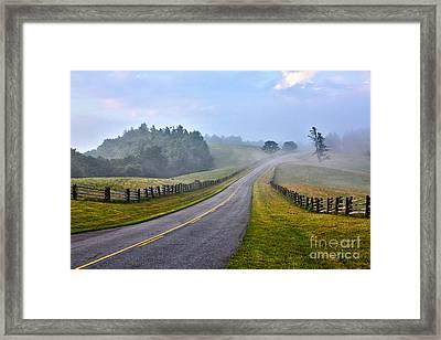 Gentle Morning - Blue Ridge Parkway Framed Print