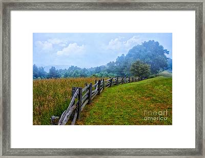 Gentle Morning - Blue Ridge Parkway I Framed Print by Dan Carmichael