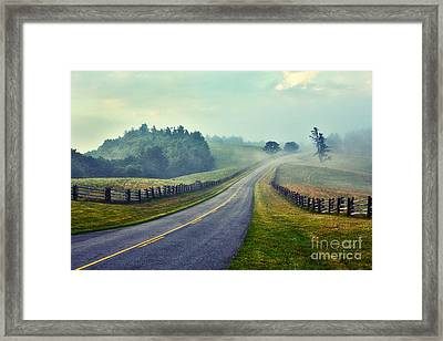 Gentle Morning - Blue Ridge Parkway II Framed Print by Dan Carmichael