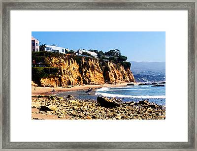 Gentle Surf At Paradise Cove Framed Print by Ron Regalado