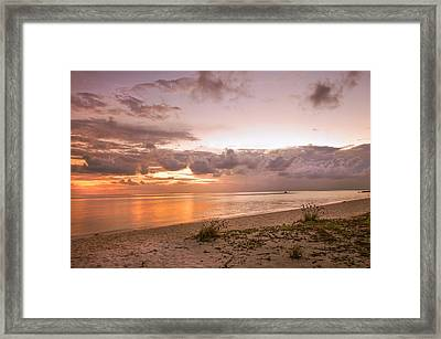 Gentle Time Of Sunrise In Tropical Island Framed Print by Jenny Rainbow
