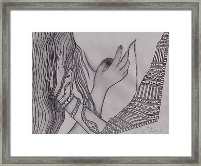 Gentle Touch Framed Print by Barbara St Jean