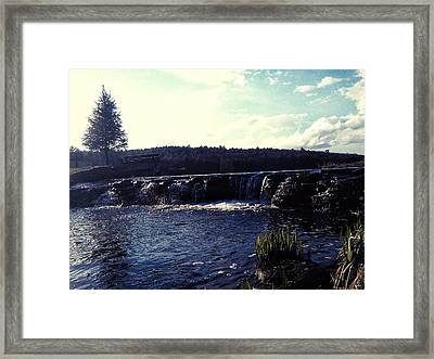Gentle Waterfall Framed Print by Lucky Bro's