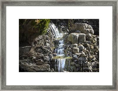 Gentle Waterfall Framed Print