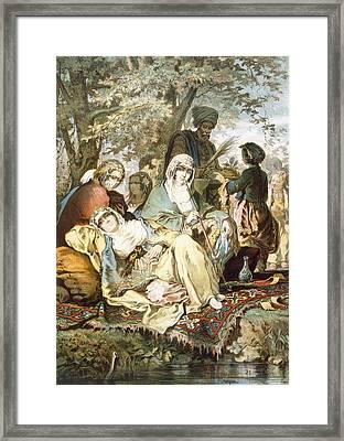 Gentle Waters, 1865 Framed Print