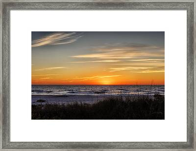 Gentle Wave Sunset Framed Print