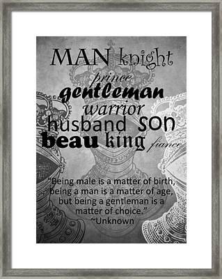 Gentleman 4 Framed Print