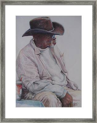 Gentleman Wearing The Dark Hat Framed Print