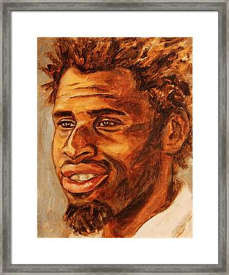 Gentleman With Goatee Framed Print by Xueling Zou