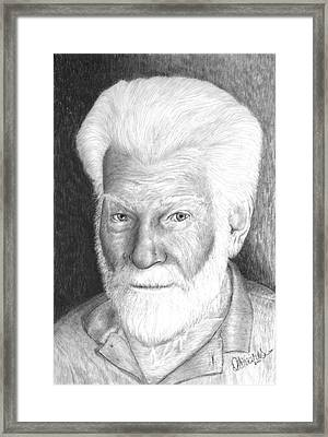 Gentleman With White Beard Framed Print