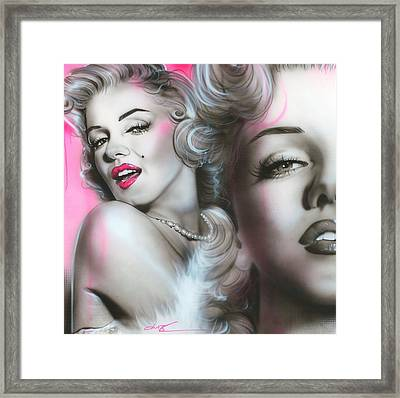 Marilyn Monroe - ' Gentlemen Prefer Blondes ' Framed Print by Christian Chapman Art