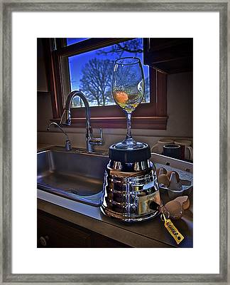 Gentlemen Start Your Blenders Framed Print by Mark Miller