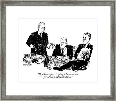 Gentlemen, Yours Is Going To Be One Of This Framed Print by William Hamilton