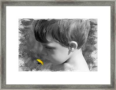 Gentleness Of A Child Framed Print