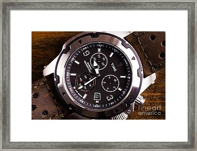 Gents Analogue Watch Close Up Framed Print by Simon Bratt Photography LRPS