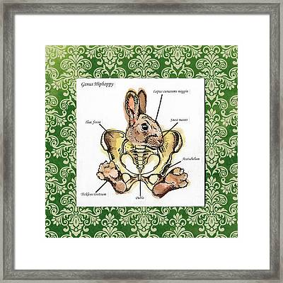 Genus Hiphoppy Framed Print by Kelly Jade King