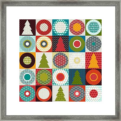 Geo Christmas Framed Print