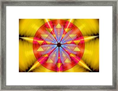 Geo-cosmic Sri Yantra Framed Print