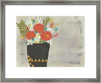 Geo Floral Framed Print