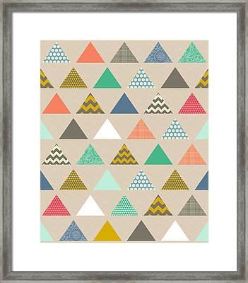 Geo Triangles Framed Print by Sharon Turner