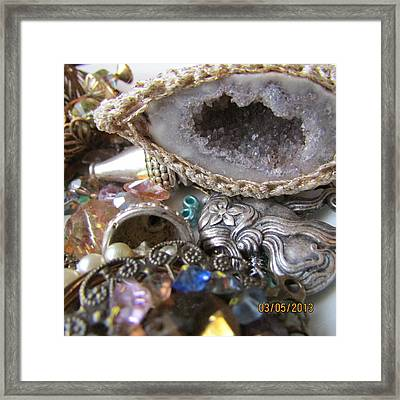 Geode To Beads Framed Print by Jaime Neo