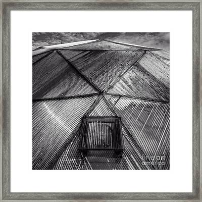 Geodesic Dome Square Format Framed Print
