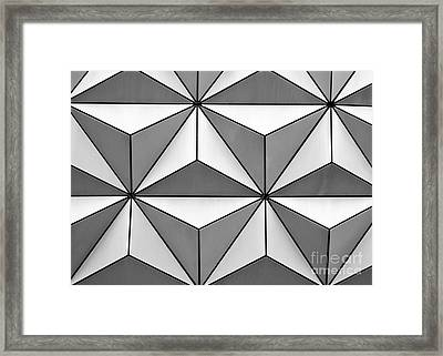 Geodesic Pyramids Framed Print by Sabrina L Ryan
