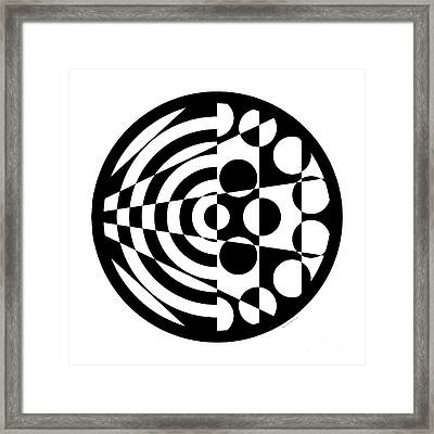 Geomentric Circle 1 Framed Print by Amy Kirkpatrick