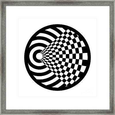 Geomentric Circle 2 Framed Print by Amy Kirkpatrick