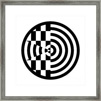 Geomentric Circle 3 Framed Print by Amy Kirkpatrick