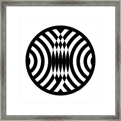 Geomentric Circle 4 Framed Print by Amy Kirkpatrick