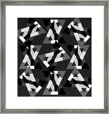Geometric 12 Framed Print by Mark Ashkenazi