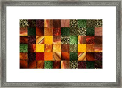 Geometric Abstract Design Evening Lights Framed Print by Irina Sztukowski