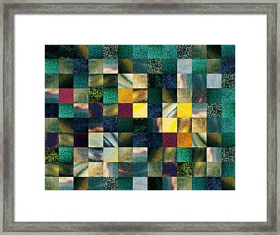 Geometric Abstract Design Forest Lights Framed Print