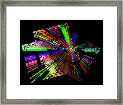 Geometric Abstract Designs Framed Print by Mario Perez