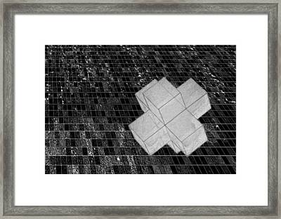 Geometric Abstract Framed Print by Jack Zulli
