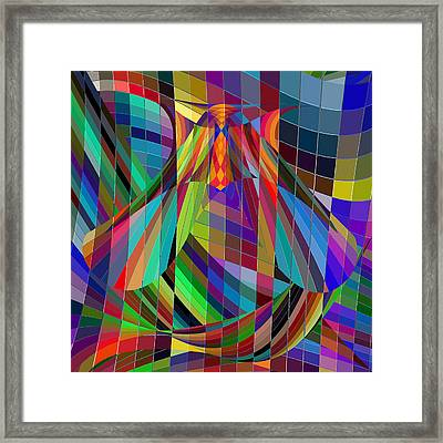 Geometric Alien Fly Framed Print by Stephanie Grant