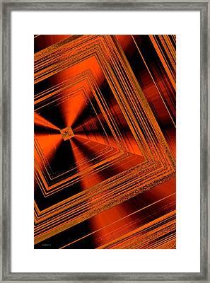 Geometric Art In Brown Framed Print by Mario Perez