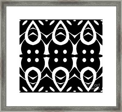 Geometric Black White Pattern Art Print No.282. Framed Print by Drinka Mercep
