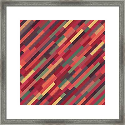 Framed Print featuring the digital art Geometric Block by Mike Taylor