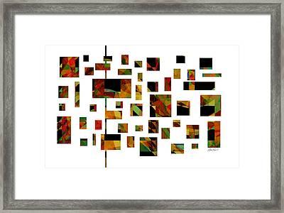 Geometric Design - Abstract - Art Framed Print by Ann Powell