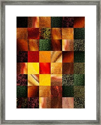 Geometric Design Squares Pattern Abstract II Framed Print