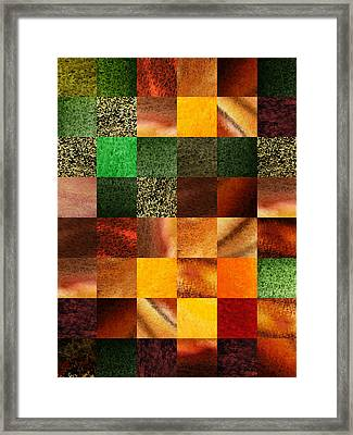Geometric Design Squares Pattern Abstract IIi  Framed Print by Irina Sztukowski