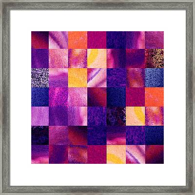 Geometric Design Squares Pattern Abstract V  Framed Print