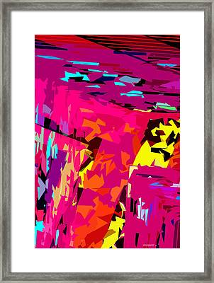 Geometric Design With Color And Lines Framed Print by Mario Perez