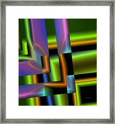 Geometric Electric Effect Framed Print by Mario Perez