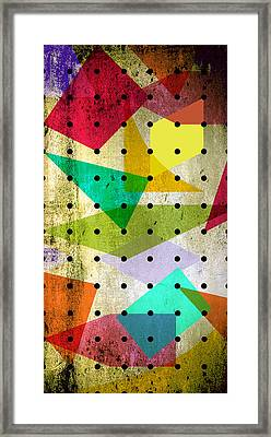 Geometric In Colors  Framed Print