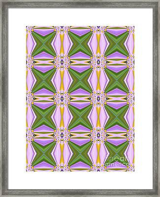 Geometric Lavender Daisies Framed Print