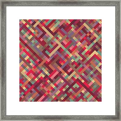 Geometric Lines Framed Print by Mike Taylor